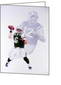 Ny Jets Greeting Cards - Long Shawdow Greeting Card by William Walts