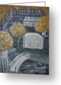 Jrr Greeting Cards - Lothlorien Greeting Card by Malinda  Prudhomme