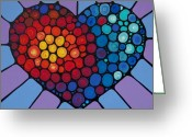 Romantic Art Greeting Cards - Love Conquers All Greeting Card by Sharon Cummings
