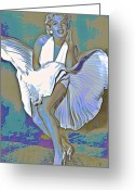 Shoulders Greeting Cards - Marilyn Monroe  Greeting Card by Byron Fli Walker