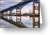 Skyway Greeting Cards - Mergers Greeting Card by JC Findley