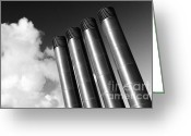 Gaspar Avila Greeting Cards - Modern restaurant chimneys. Greeting Card by Gaspar Avila