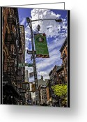 Traffic Light Greeting Cards - Mulberry St - NYC Greeting Card by Madeline Ellis