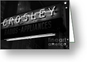 Appliances Greeting Cards - Name In Lights Greeting Card by Mel Steinhauer