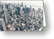 Midtown Greeting Cards - New York City from Above Greeting Card by Vivienne Gucwa
