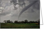 Hail Photo Greeting Cards - Oklahoma Swirl Greeting Card by Zach  Roberts