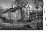 White Barns Greeting Cards - Old Timer Greeting Card by Bill  Wakeley