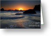 Sundown Greeting Cards - On the Horizon Greeting Card by Mike  Dawson