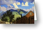 Taos Greeting Cards - On the Road to Lilis Greeting Card by Art West
