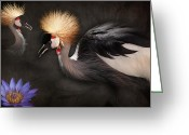 Exotic Birds Greeting Cards - Painted Islands of Summer Lilies Greeting Card by Sharon Mau