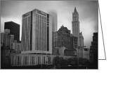 Woolworth Building Greeting Cards - 1  Park Plaza and the Woolworth Greeting Card by Joann Vitali