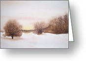 Snow On Field Greeting Cards - Peace Greeting Card by Robert Havens