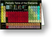 Periodic Greeting Cards - Periodic Table of the Elements Greeting Card by Carol and Mike Werner