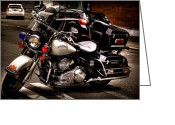 Law Enforcement Greeting Cards - Police Harley Greeting Card by David Patterson