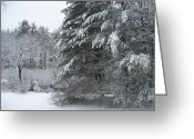 Winter Prints Greeting Cards - Powdered Sugar Greeting Card by Eunice Miller