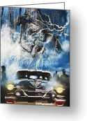 Horns Greeting Cards - Riders On The Storm Greeting Card by Larry Butterworth