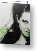 Tattoos Greeting Cards - Rose of Envy Greeting Card by Christian Chapman Art