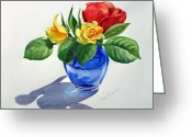 Irina Greeting Cards - Roses Greeting Card by Irina Sztukowski