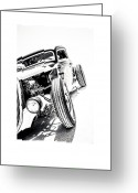 Antique Automobile Greeting Cards - Salt Metal Greeting Card by Holly Martin