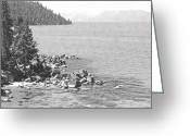 Forested Greeting Cards - Secret Cove Lake Tahoe Greeting Card by Frank Wilson