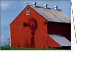 Pa Barns Greeting Cards - Shadow Barn Greeting Card by Timothy Clinch