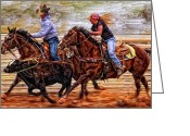 Cowboy Digital Art Greeting Cards - Shes The Real Deal Greeting Card by Robert Albrecht
