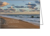 Cape Cod Mass Photo Greeting Cards - Solitude Greeting Card by Bill  Wakeley
