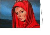 Italian Cinema Greeting Cards - Sophia Loren Greeting Card by Paul Meijering