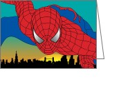 Animation Greeting Cards - Spiderman  Greeting Card by Mark Ashkenazi