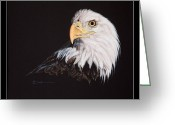 Eagle Pastels Greeting Cards - Spirit Bald Eagle Greeting Card by Mary Dove