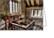 Banister Greeting Cards - St Celynnin Church Greeting Card by Adrian Evans