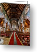 Church Greeting Cards - St Mary Greeting Card by Adrian Evans