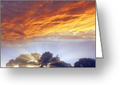 Warmth Greeting Cards - Sunrise Greeting Card by Les Cunliffe