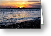 Hull Ma Greeting Cards - Sunset Beauty Greeting Card by Joanne Brown