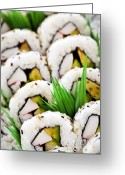 Food And Beverage Greeting Cards - Sushi platter Greeting Card by Elena Elisseeva