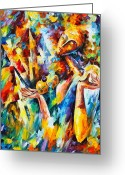 Leonid Afremov Greeting Cards - Sweet Dreams Greeting Card by Leonid Afremov