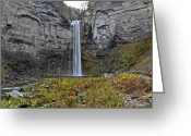 Ebb And Flow Greeting Cards - Taughannock Falls Greeting Card by Robert Harmon