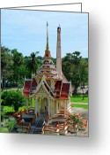 Tropical Photographs Greeting Cards - Thailand Buddhist Temple Greeting Card by Julia  Fine Art