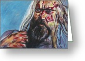 Zombie Pastels Greeting Cards - The Devils Work Greeting Card by Jeremy Moore