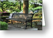 Great Point Greeting Cards - The Garden Greeting Card by JC Findley