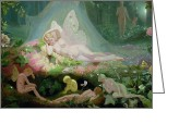 Featured Greeting Cards - There Sleeps Titania Greeting Card by John Simmons