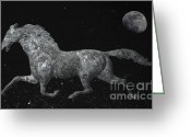 Weathervane Greeting Cards - Traveling Through The Universe Greeting Card by John Stephens