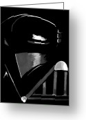 Trek Greeting Cards - Vader Greeting Card by Dale Loos Jr