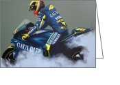 Motogp Greeting Cards - Valentino Rossi Greeting Card by Paul Meijering