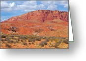 Grand Staircase - Escalante National Monument Greeting Cards - Vermilion Cliffs National Monument-AZ Greeting Card by Ruth Hager