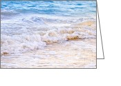 Azure Blue Greeting Cards - Waves breaking on tropical shore Greeting Card by Elena Elisseeva