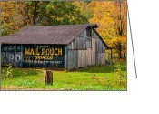 Chewing Tobacco Greeting Cards - West Virginia Barn Greeting Card by Steve Harrington