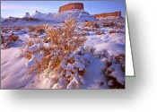 Nun Greeting Cards - Winter in Castle Valley Greeting Card by Ray Mathis