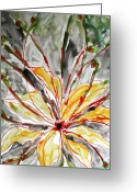 Baljit Chadha Greeting Cards - Zenmoksha Flowers Greeting Card by Baljit Chadha