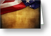 Stars And Stripes.   Greeting Cards - American flag Greeting Card by Les Cunliffe